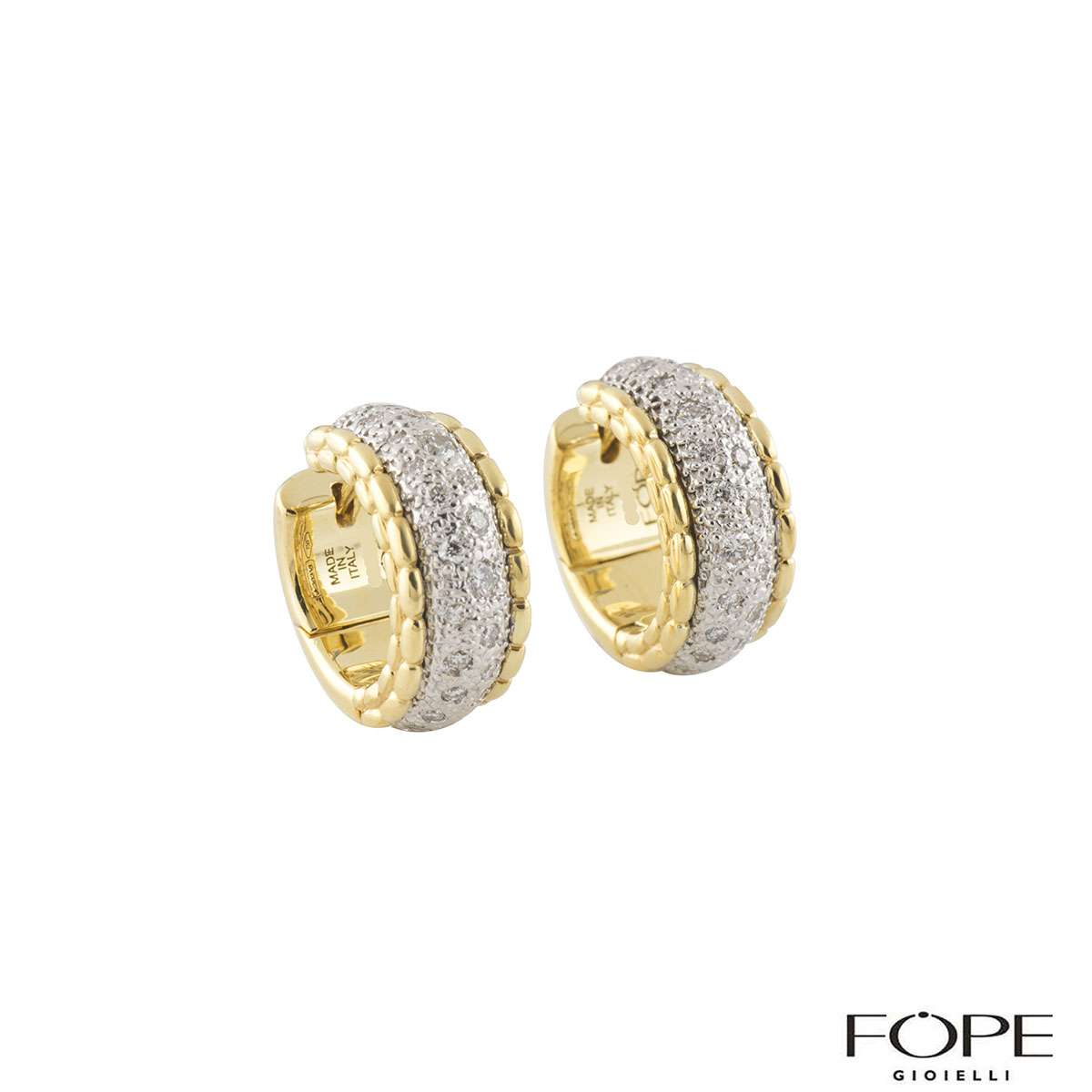 Fope Diamond Hoops